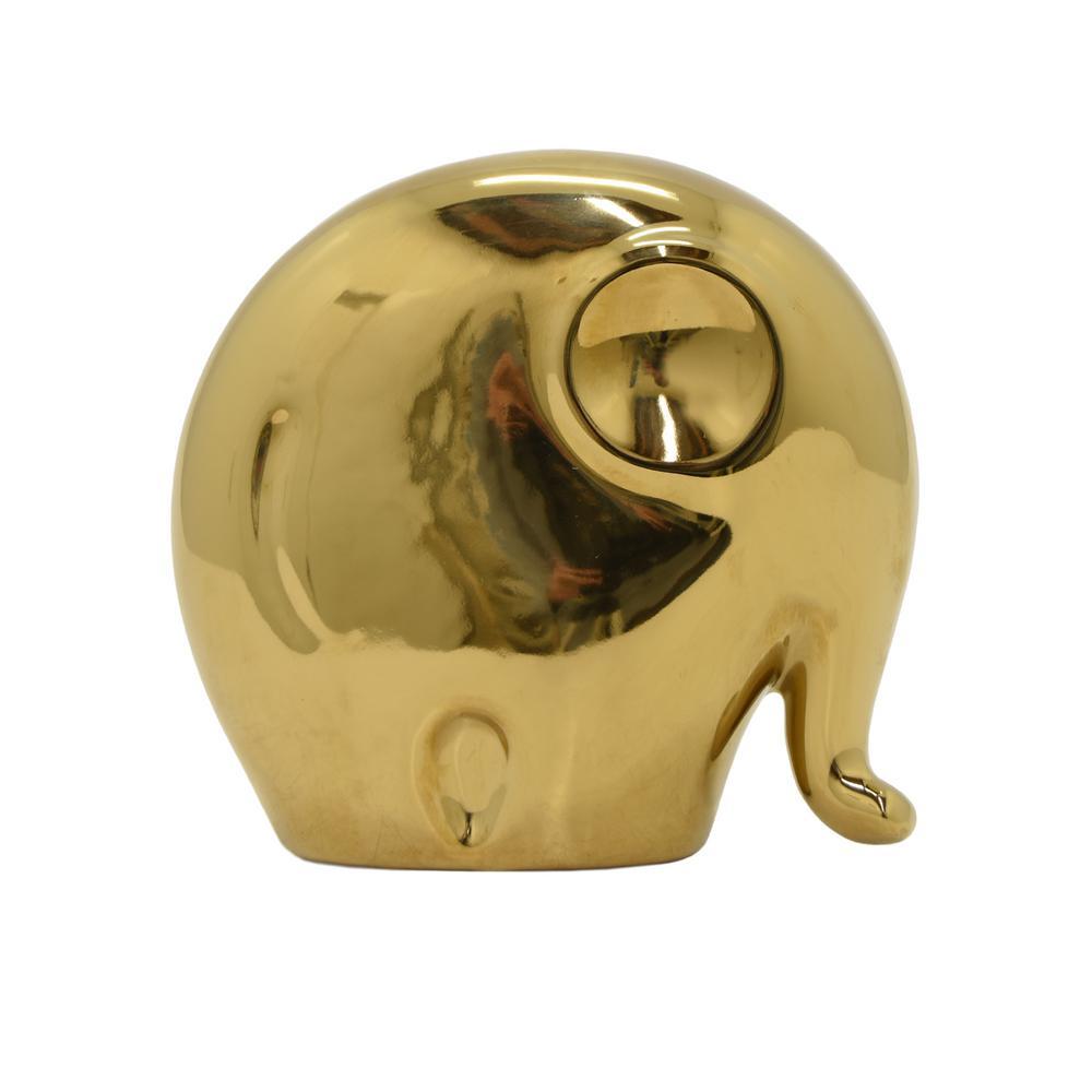 6.5 in. Ceramic Elephant Sculpture