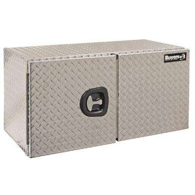60 in. Aluminum Double Barn Door Underbody Tool Box with T-Handle Latch