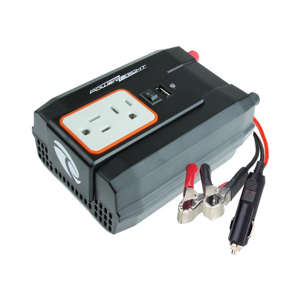 Power Bright 12-Volt DC to AC 400-Watt Power Inverter