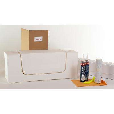Wide White Convertible Bathtub Conversion Kit