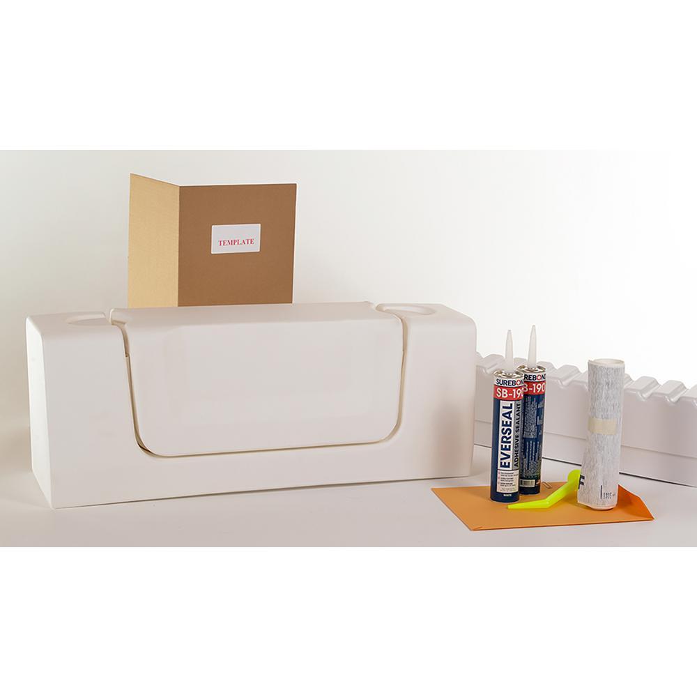 Cleancut Wide White Convertible Bathtub Conversion Kit C W W The