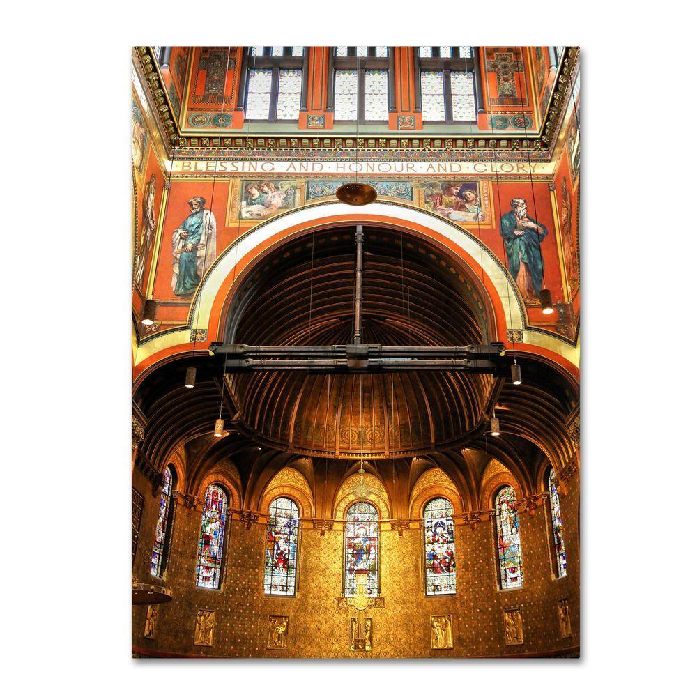 14 inch x 19 inch Trinity Church Canvas Art by
