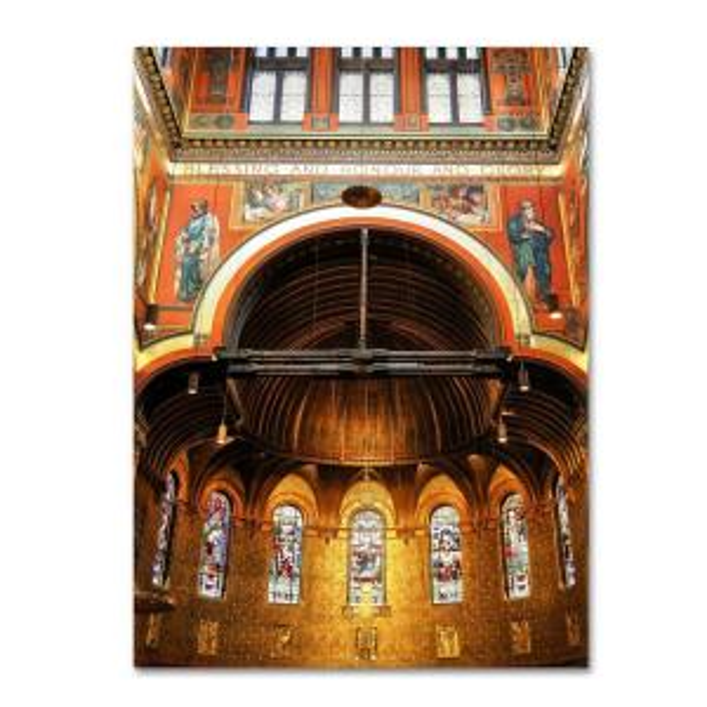 30 inch x 47 inch Trinity Church Canvas Art by