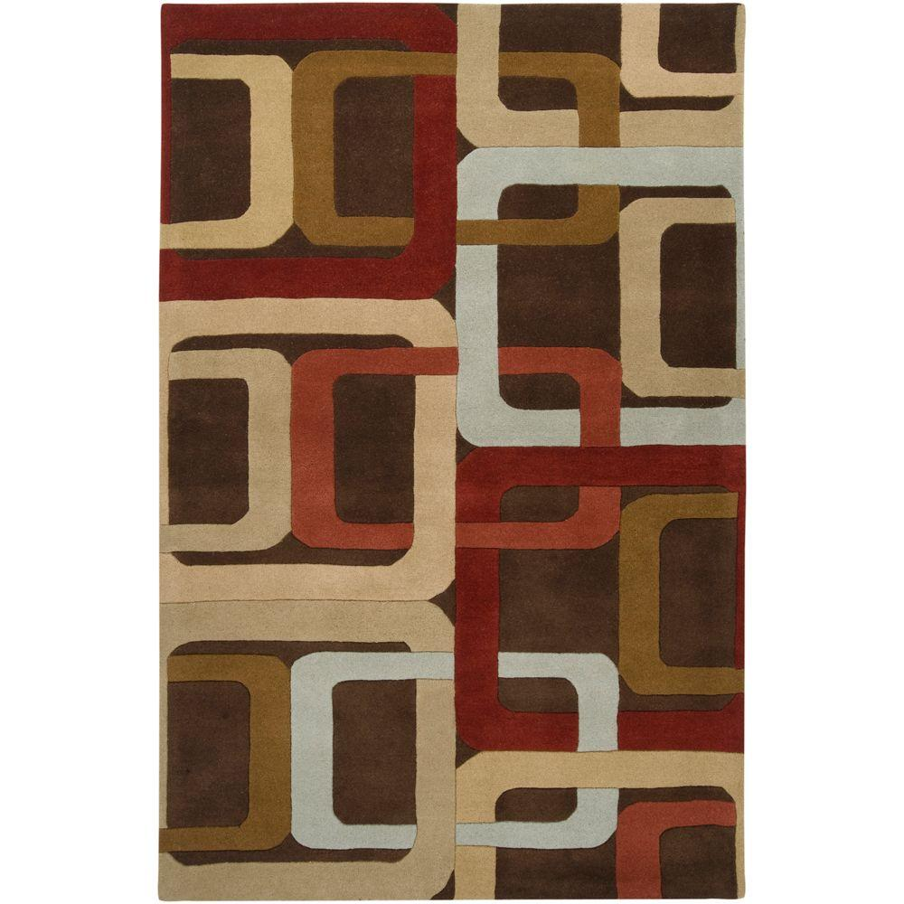 Home Dynamix Sumatra Brown 8 Ft X 10 Ft Area Rug 1 9377a