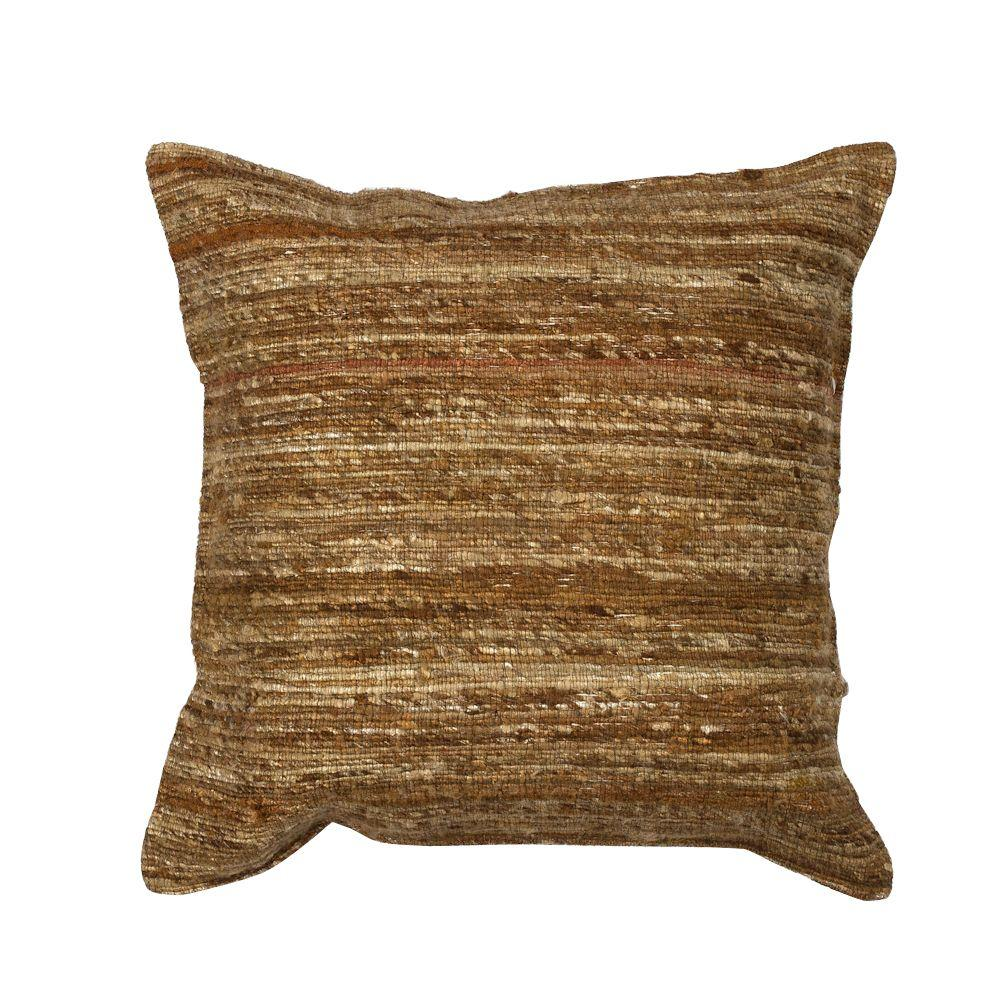 KasRugs Kas Rugs Rustic Chic Beige Geometric Hypoallergenic Polyester 18 in. x 18 in. Throw Pillow