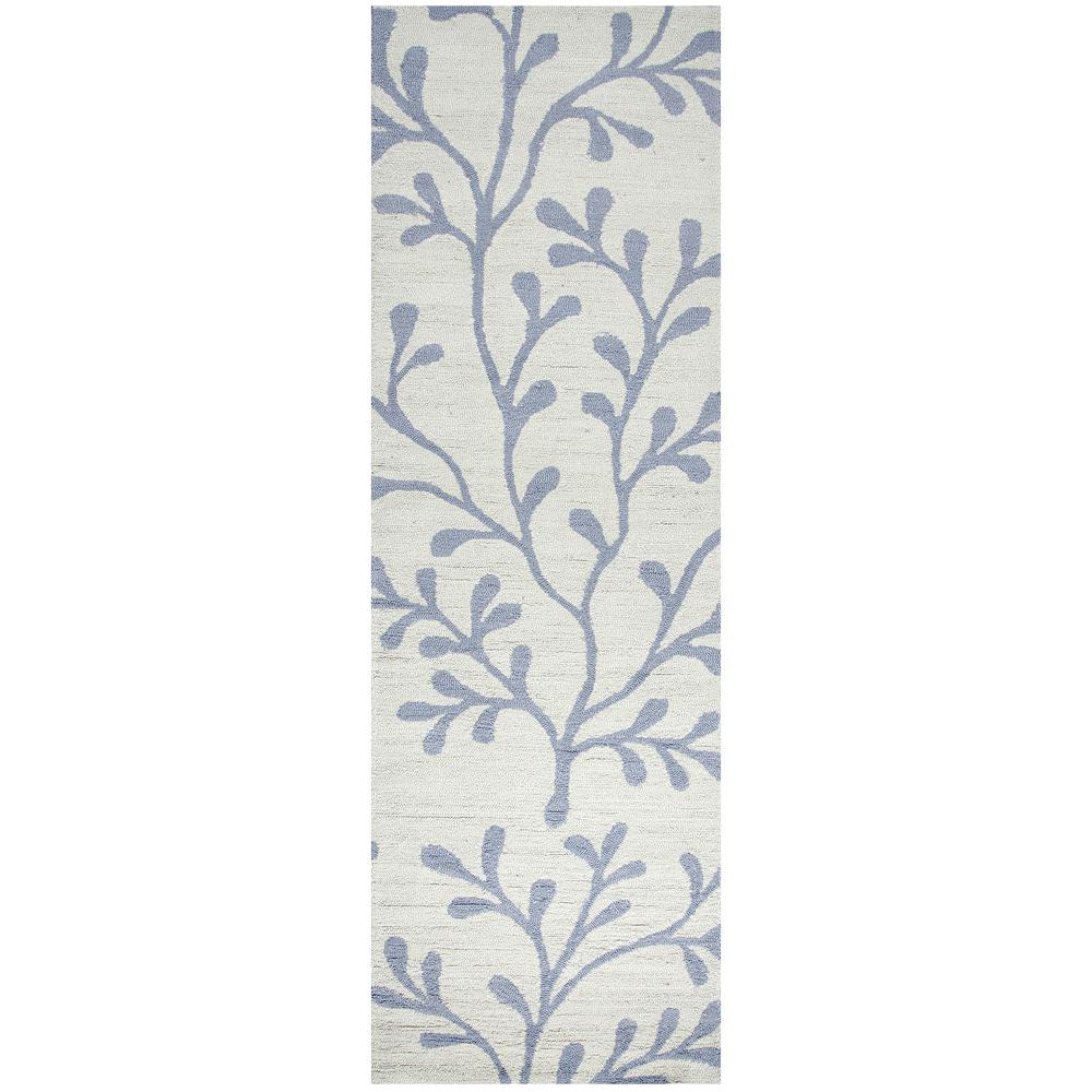 Azzura Hill Ivory Floral 3 ft. x 8 ft. Outdoor Runner