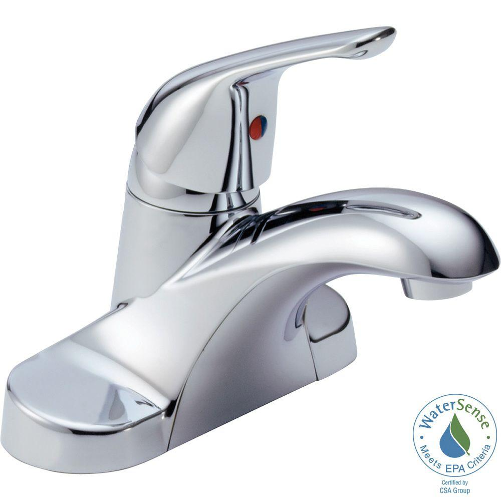 Delta Foundations 4 in. Centerset Single-Handle Bathroom Faucet Less ...