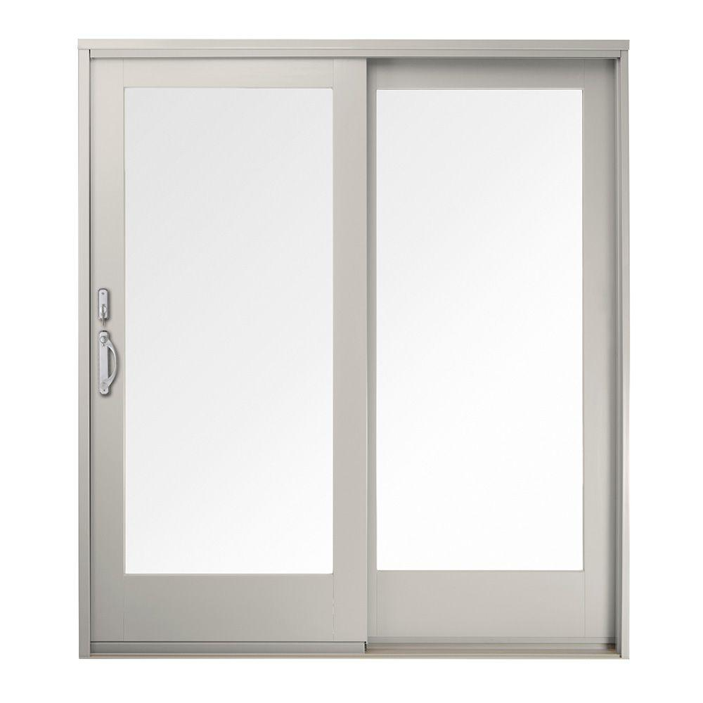 Andersen 60 in x 80 in 400 series frenchwood white left for White sliding patio doors