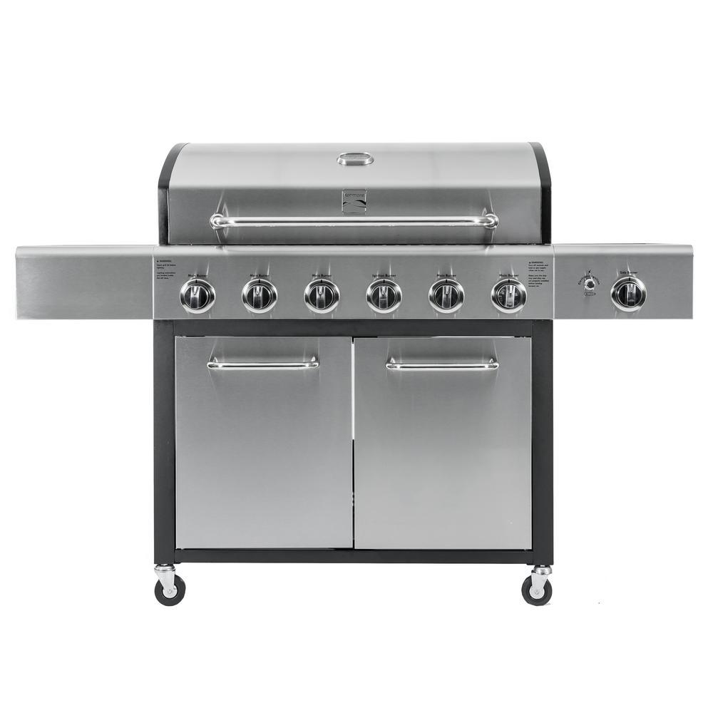 6-Burner with Side Propane Gas Burner XL Grill