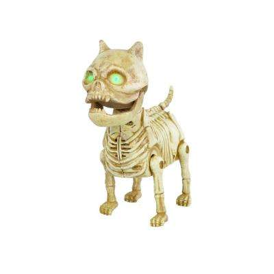 7 in ANIMATED LED Skeleton Mini Dog
