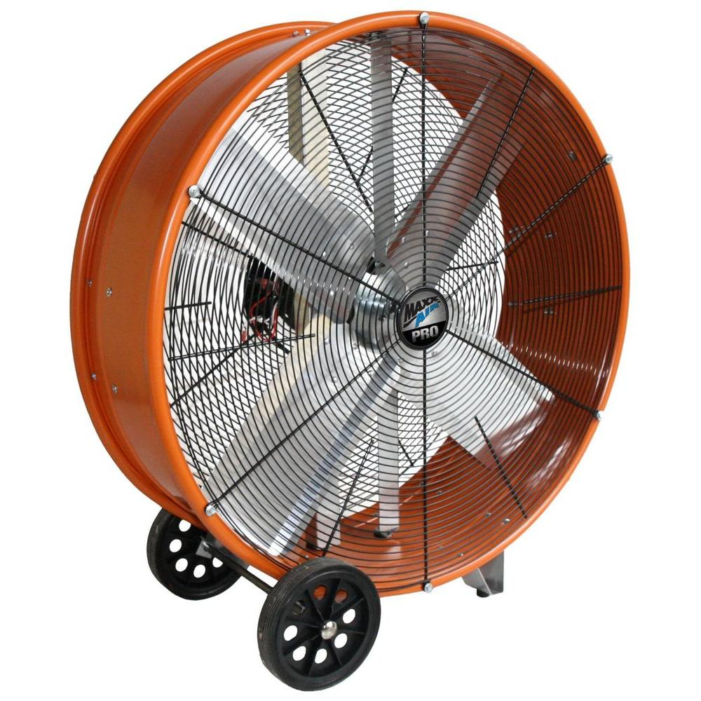 Big Vent Fans : Maxxair in industrial heavy duty speed pro drum fan