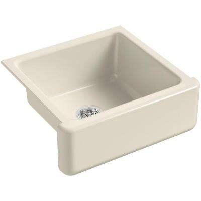 Whitehaven Undermount Farmhouse Apron-Front Cast Iron 24 in. Single Bowl Kitchen Sink in Almond