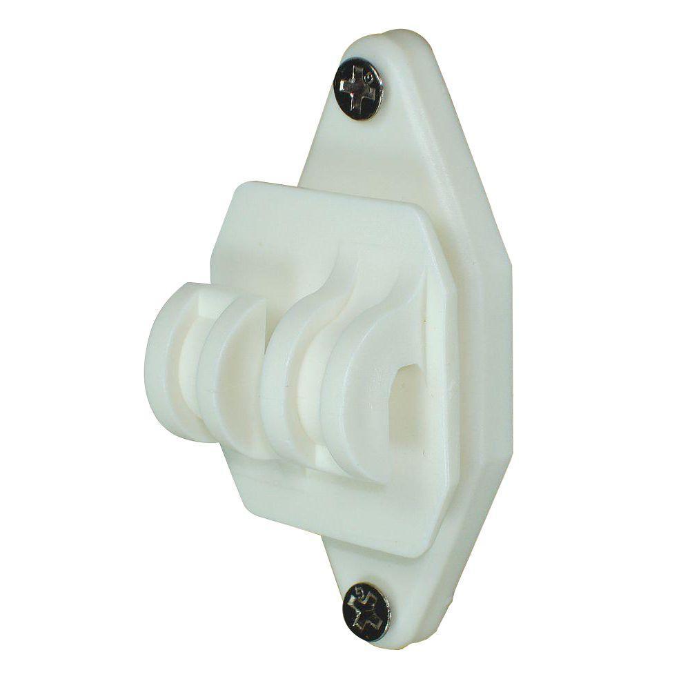 White Wood Post Nail on Insulator for Hi-Tensile (100-Pack)