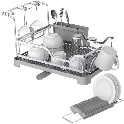 Aluminum Dish Rack with Expandable Over The Sink