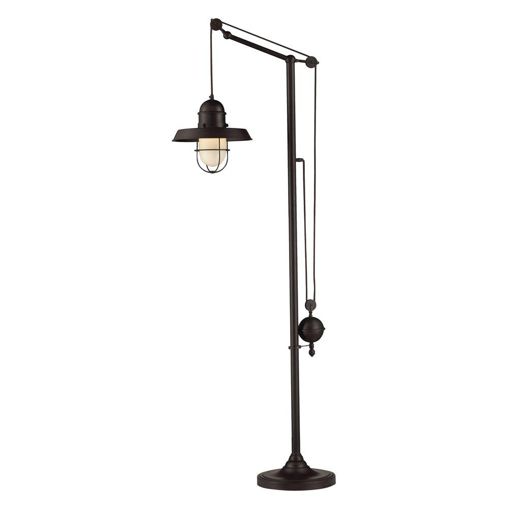 Titan Lighting Farmhouse 69 In. Oiled Bronze Floor Lamp