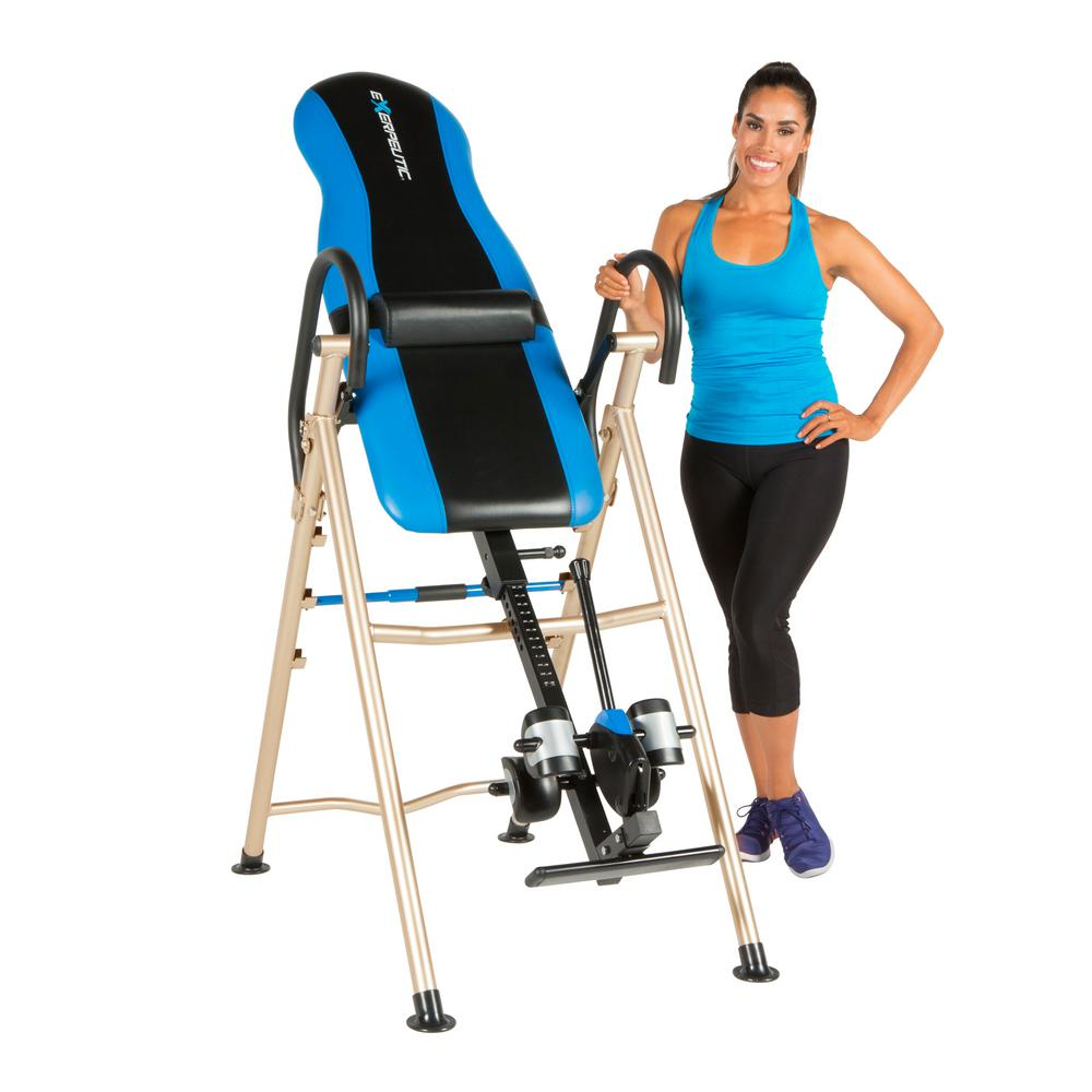 Exerpeutic 175SL Inversion Table with SureLock Safety Ankle Ratchet System and