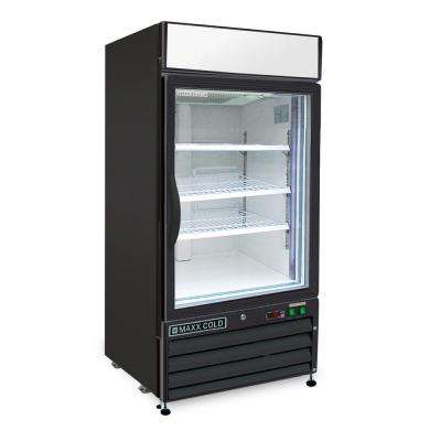 X-Series 12 cu. ft. Single Door Merchandiser Refrigerator in Black