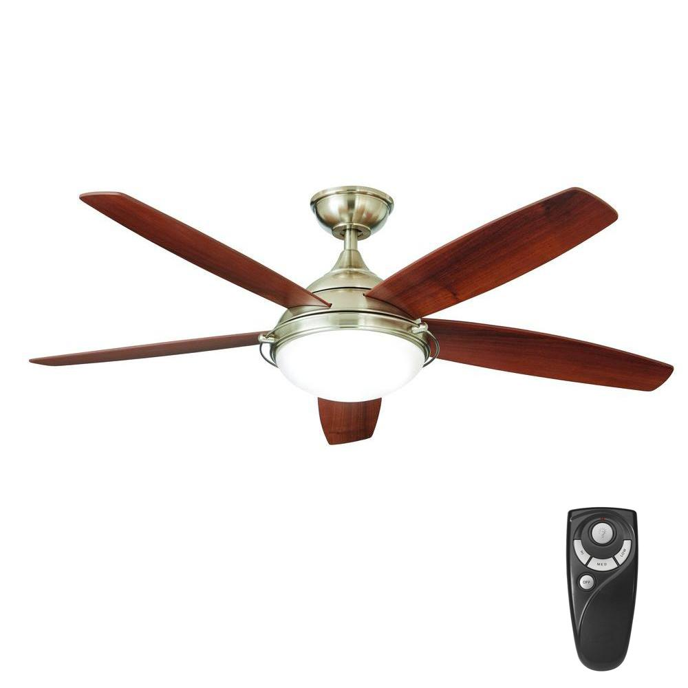 Home Decorators Collection Gramercy 52 In Led Indoor Brushed Nickel Ceiling Fan With Light Kit