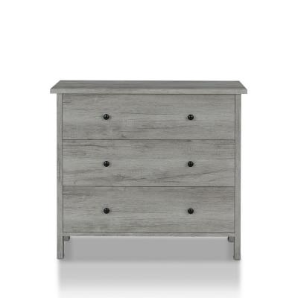 Duane 3-Drawer Vintage Gray Chest