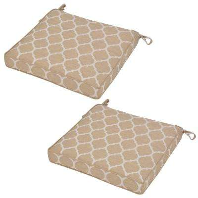 Toffee Ogee Outdoor Seat Cushion (2-Pack)