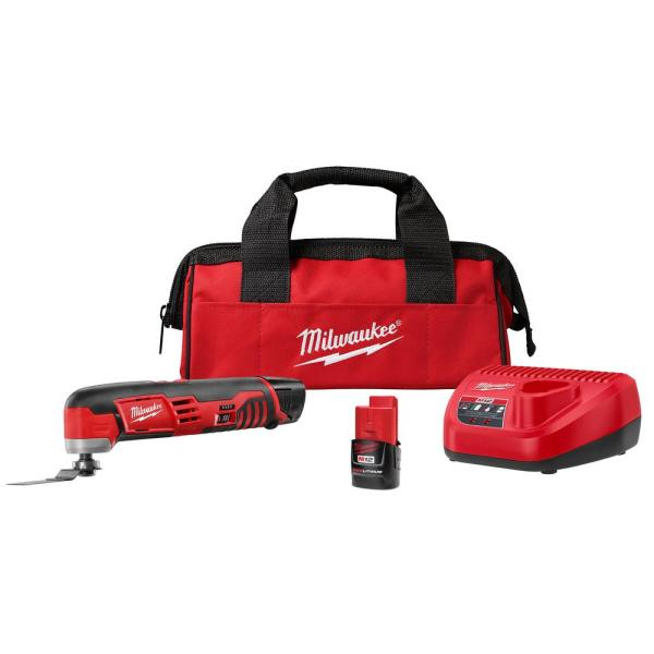 M12 12-Volt Lithium-Ion Cordless Oscillating Multi-Tool Kit with(2) 1.5Ah Batteries, Accessories, Charger and Tool Bag