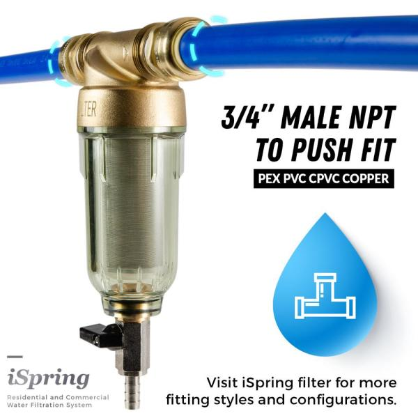Spin Down Sediment Water Filter Pre-Filter Reusable 20 GPM 3//4 in FNPT+SS Filter
