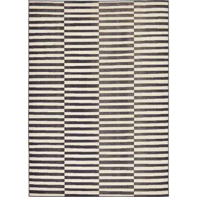 Williamsburg Striped Black 7' 0 x 10' 0 Area Rug