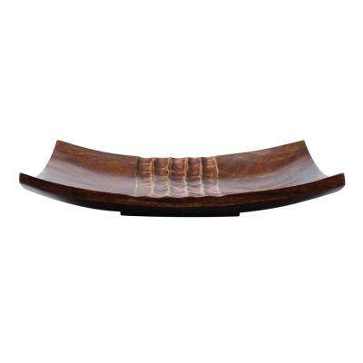 10 in. Brown Handmade Square Decorative Mango Wood Serving Tray