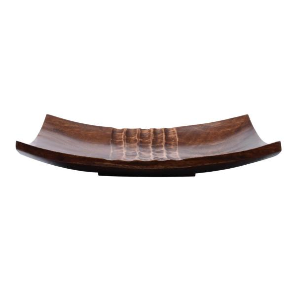 Villacera 10 in. Brown Handmade Square Decorative Mango Wood Serving Tray