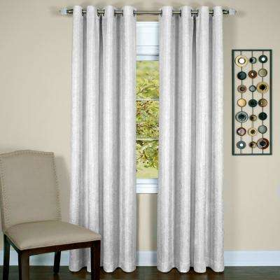 Taylor White Polyester Lined Grommet Panel - 50 in. W x 63 in. L