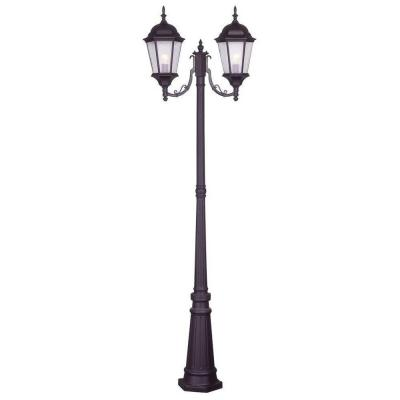Hamilton 2 Light Bronze Outdoor 2 Head Post