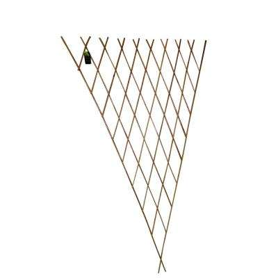 24 in. W x 60 in. H Carbonized Barkless Willow Expandable Fan Trellis (Set of 2-Piece)