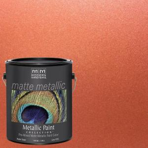 Copper Water Based Matte Metallic Interior Paint Mm195gal The Home Depot