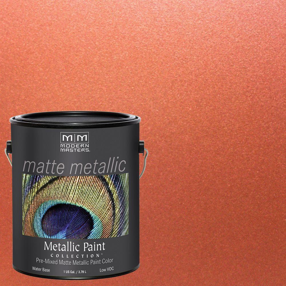 1 gal. Copper Water-Based Matte Metallic Interior Paint