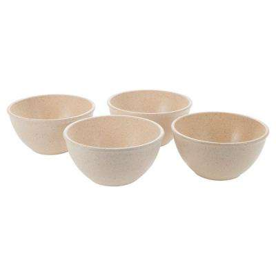 EVO Sustainable Goods 10 oz. White Eco-Friendly Wood-Plastic Composite Bowls (Set of 4)