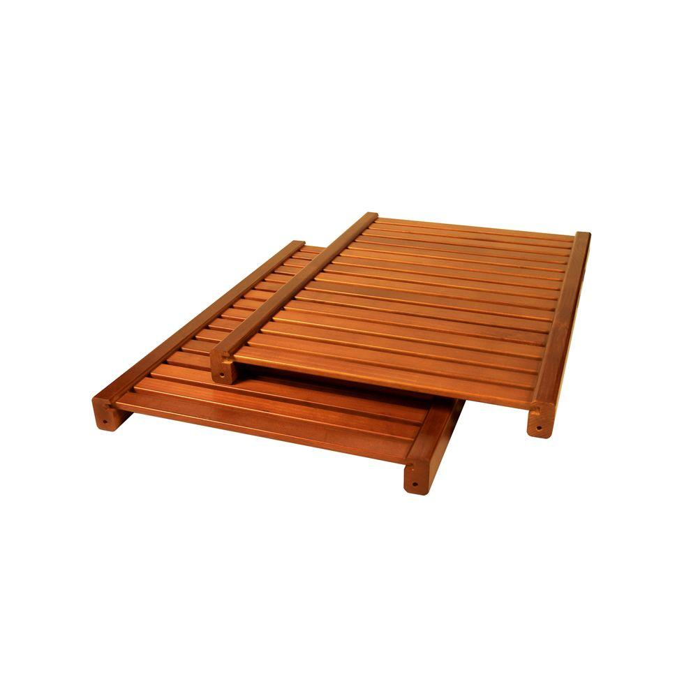 John Louis Home 16 in. Deep Woodcrest Adjustable Shelf Kit in Caramel
