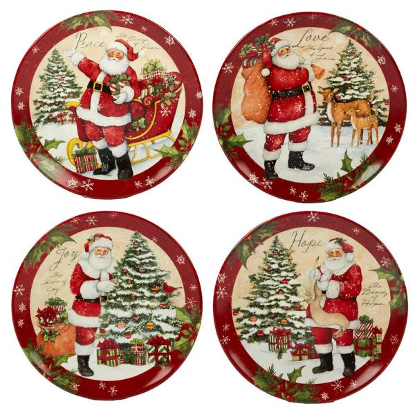 Certified International Holiday Wishes by Susan Winget 11 in. Dinner Plate