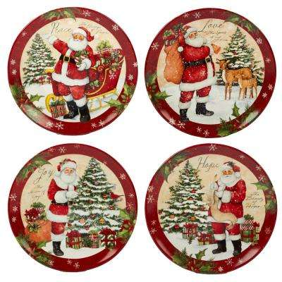 Holiday Wishes by Susan Winget 11 in. Dinner Plate (Set of 4)