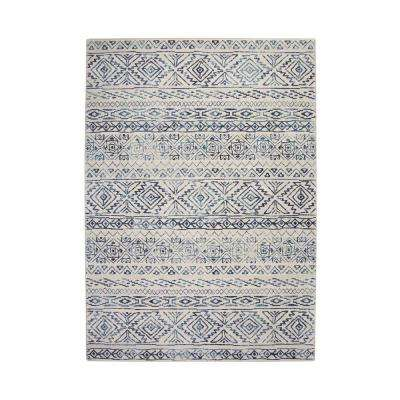 Essentials Cassidy Ivory/Blue 5 ft. 3 in. x 7 ft. 6 in. Area Rug