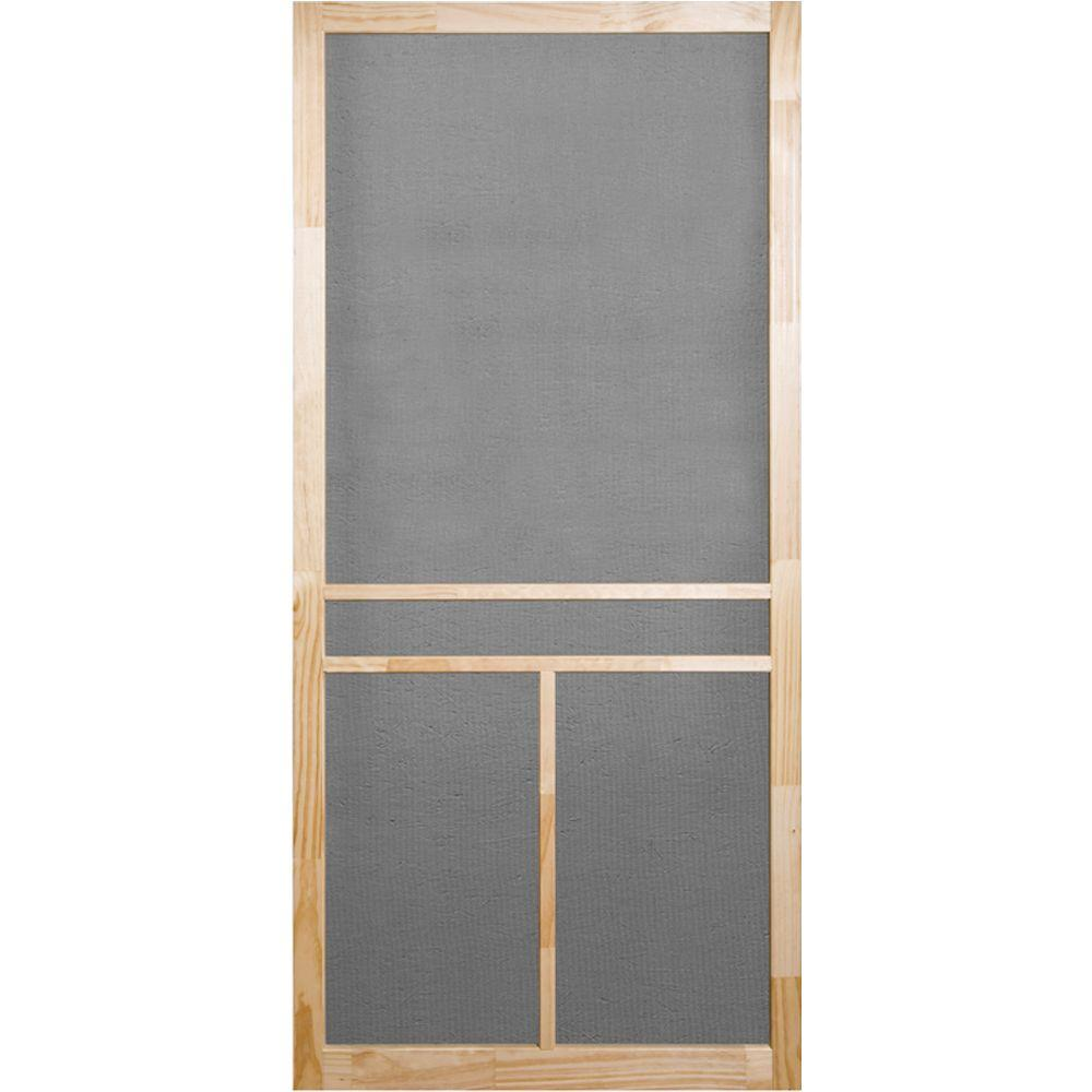 Screen Tight 36 In X 80 In Unfinished Wood T Bar Screen