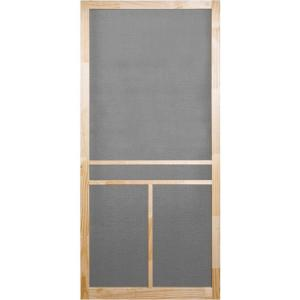 Screen Tight 36 in. x 80 in. Unfinished Wood T-Bar Screen Door ...