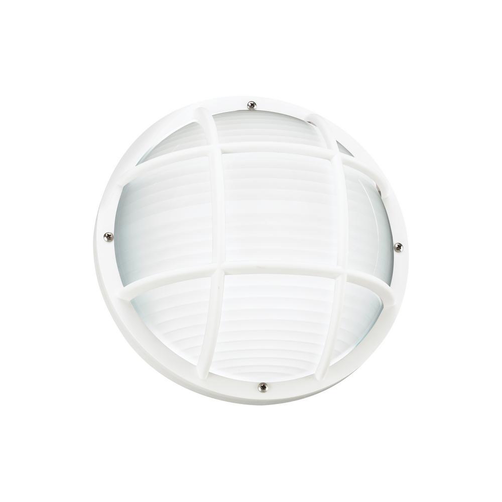 Bayside 1-Light White 5 in. Bulkhead Light