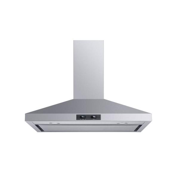 30 in. Convertible Wall Mount Range Hood in Stainless Steel with Mesh Filter and Stainless Steel Panel