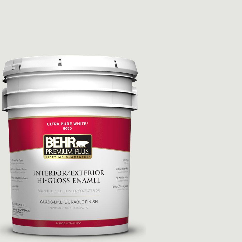 5-gal. #BXC-89 Maritime White Hi-Gloss Enamel Interior/Exterior Paint
