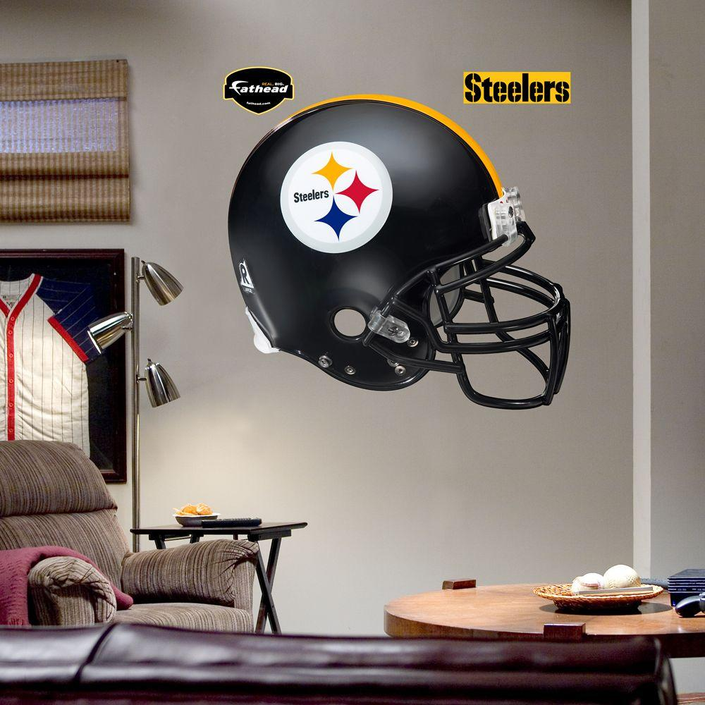 Fathead 57 in. x 51 in. Pittsburgh Steelers Helmet Wall Decal