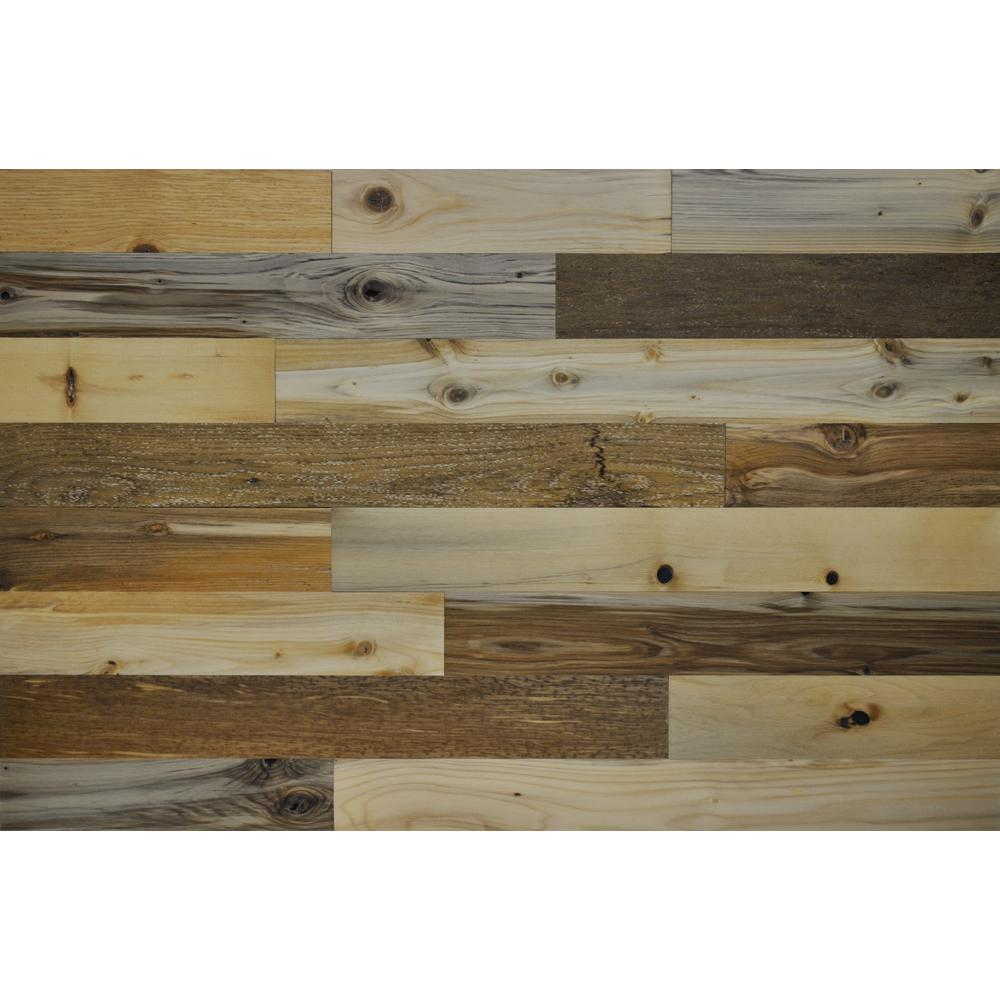 River Planks 3 in. Peel and Stick Wall Applique Panels (20