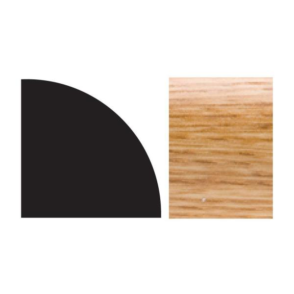 5111 5/8 in. x 5/8 in. x 8 ft. PVC Composite Quarter Round Imperial Oak Moulding