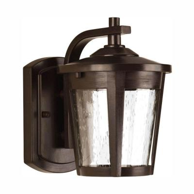 East Haven Collection 1-Light 7.9 in. Outdoor Antique Bronze LED Wall Lantern Sconce