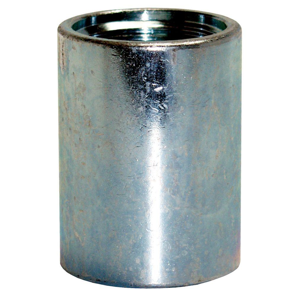null 1-1/4 in. Galvanized Drive Point Coupling