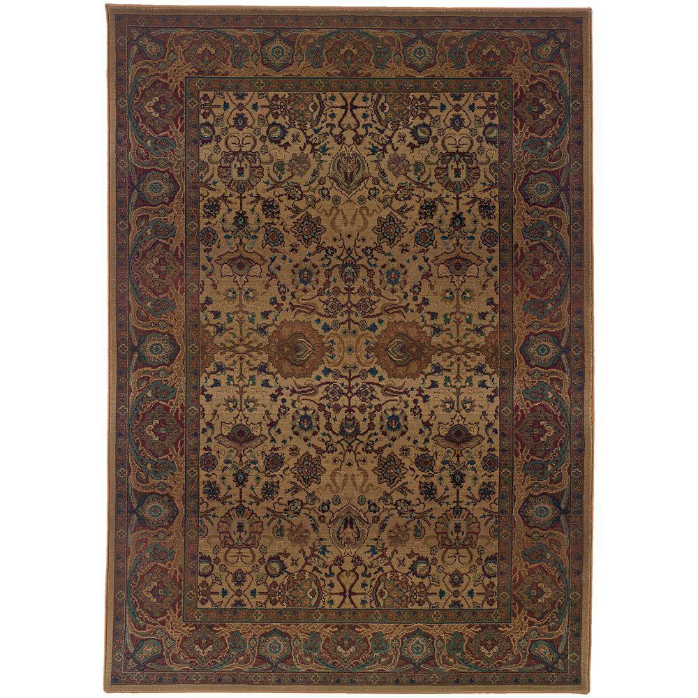 Slug Trail On Living Room Carpet: United Weavers Forest Trail Beige 5 Ft. 3 In. X 7 Ft. 6 In